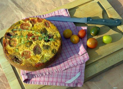 Roasted tomato & thyme cornbread