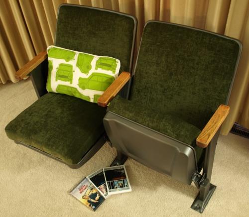 Refurbished cinema seats