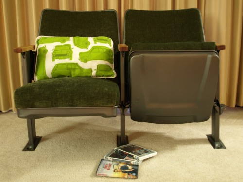 Refurbished cinema seats