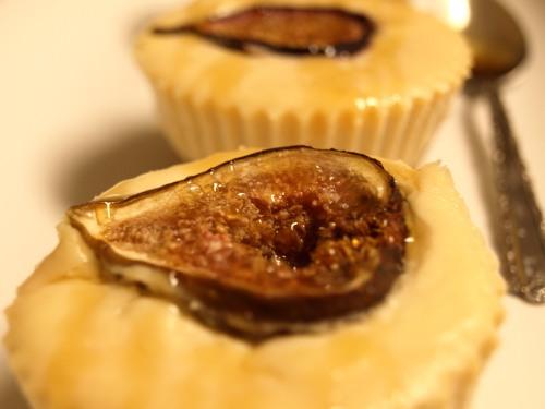 Fig and honey cheesecake