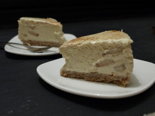 Apple bourbon cheesecake