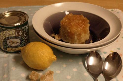 Lemon ginger syrup sponge