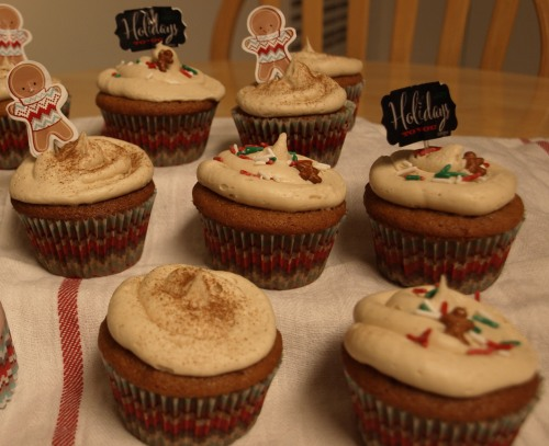 ingerbread latte cupcakes