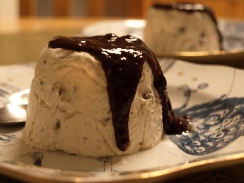 Iced Christmas pudding