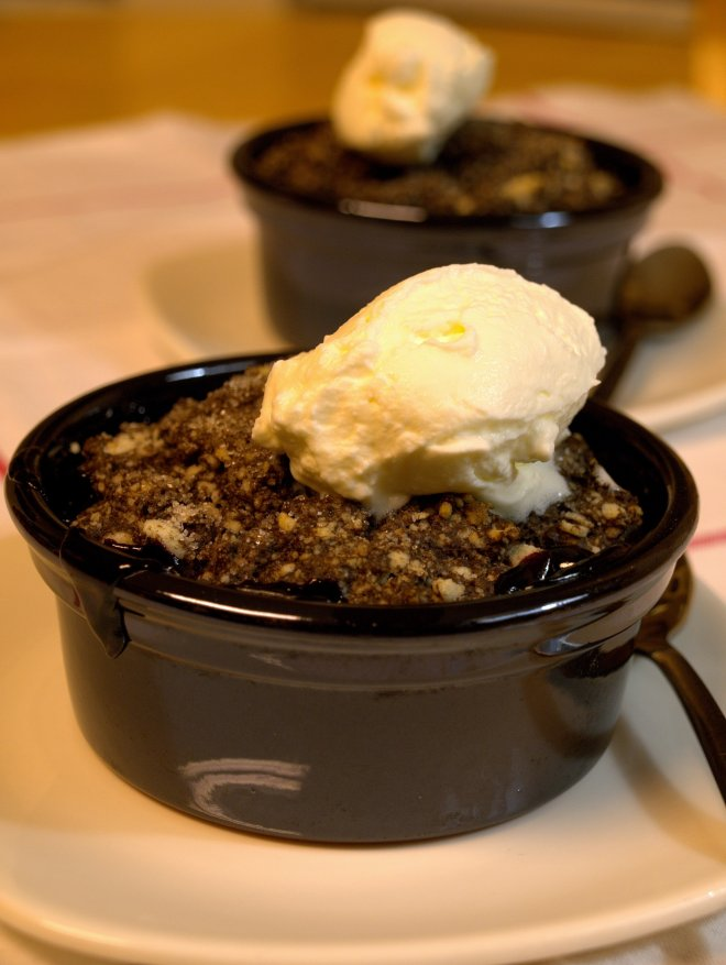 Chocolate cherry cobbler