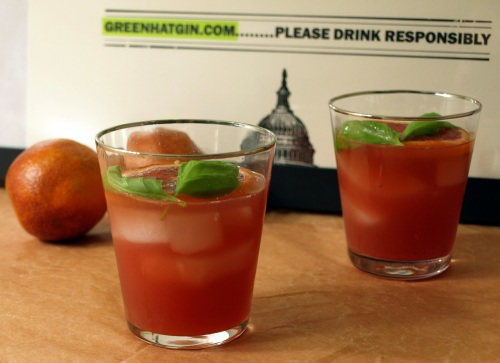 Blood orange and gin cocktail