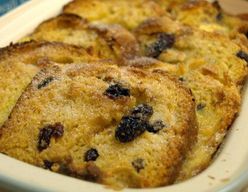 Saffron bread & butter pudding