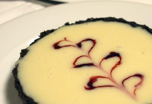 Raspberry and white chocolate tarts