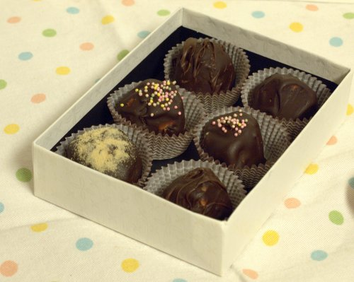 malted milk chocolate truffles