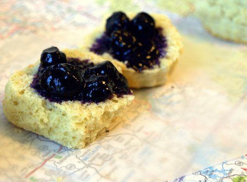blueberry & black pepper biscuits