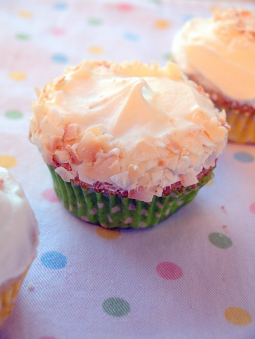 matcha coconut cupcake