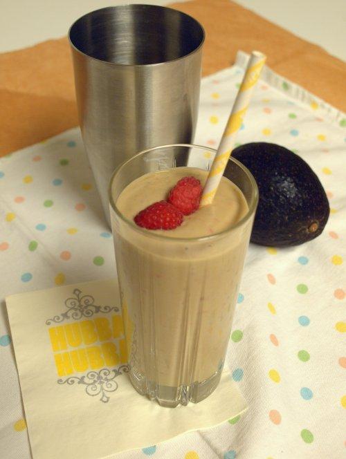 raspberry & avocado shake
