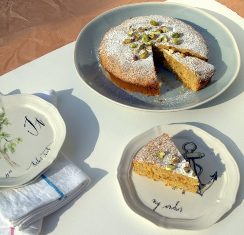 Bitter orange and pistachio cake