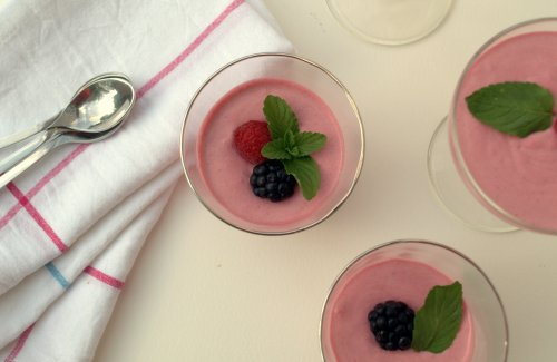 Bourbon berry posset