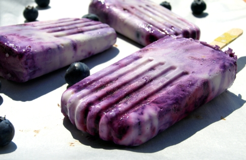 blueberry & lemon yogurt pops