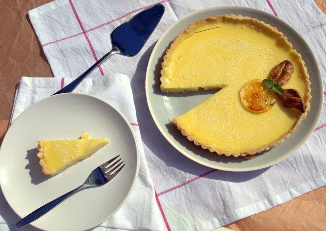 lemon & gin tart