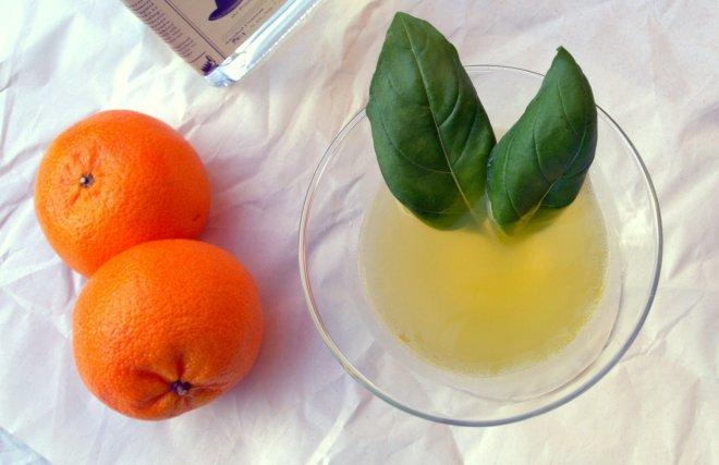 mandarin basil shrub
