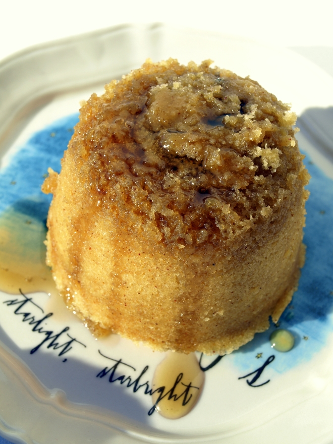 Spiced fig & maple puddings