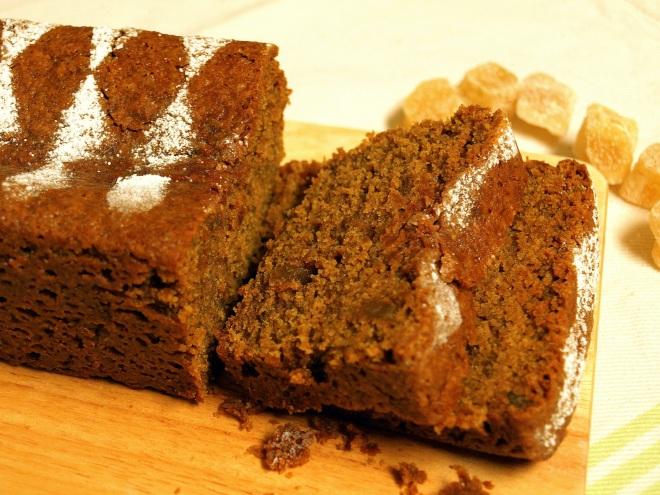 Sticky vegan ginger cake