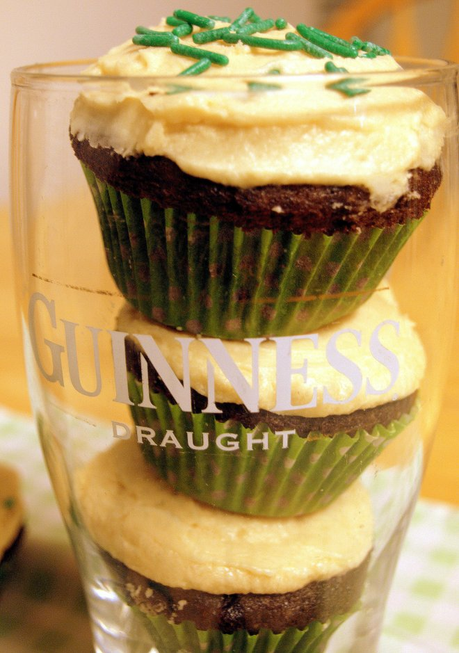 guinness & chocolate cupcakes