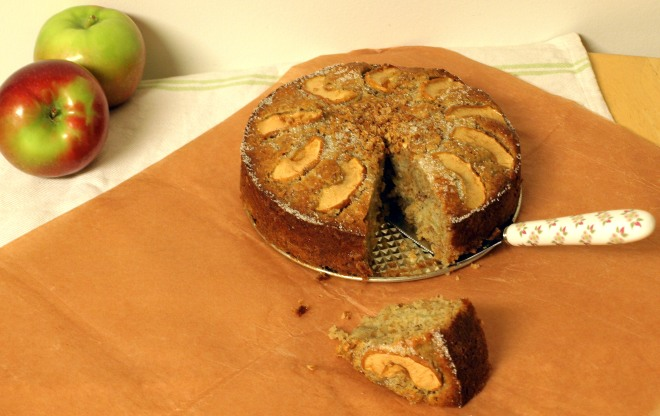 Honey apple oat cake