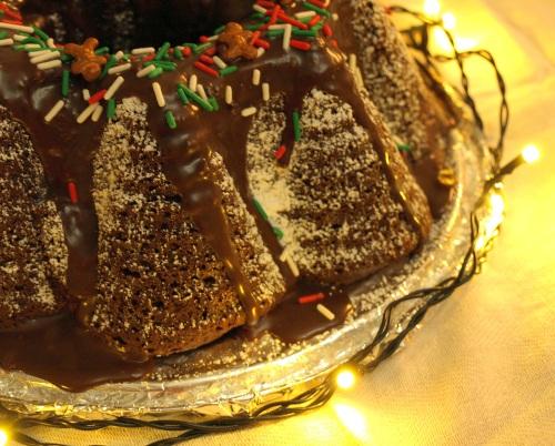 Spiced chocolate cake