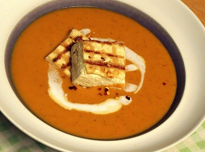 Coconut and butternut squash soup