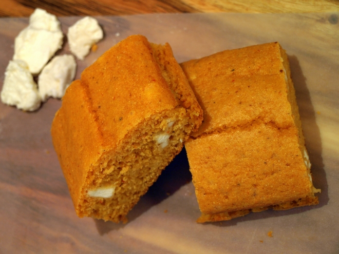 harissa & feta corn bread