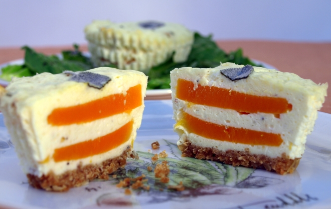 Butternut squash & sage cheesecake