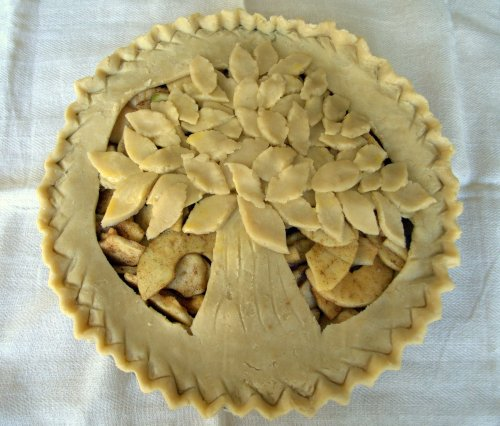 Brandy apple pie