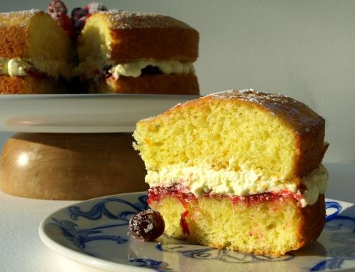 Cranberry & orange Victoria sponge