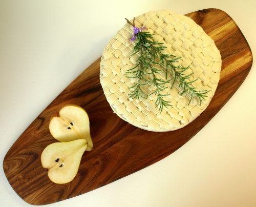 Roasted pear & rosemary cake with maple frosting