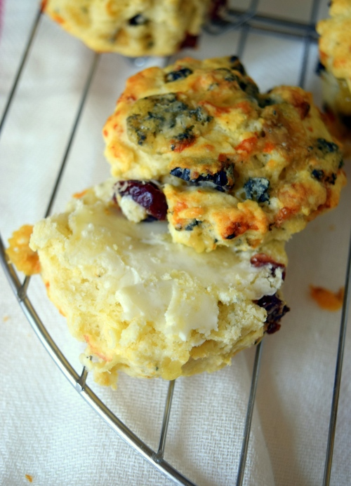 Cranberry and Stilton scones