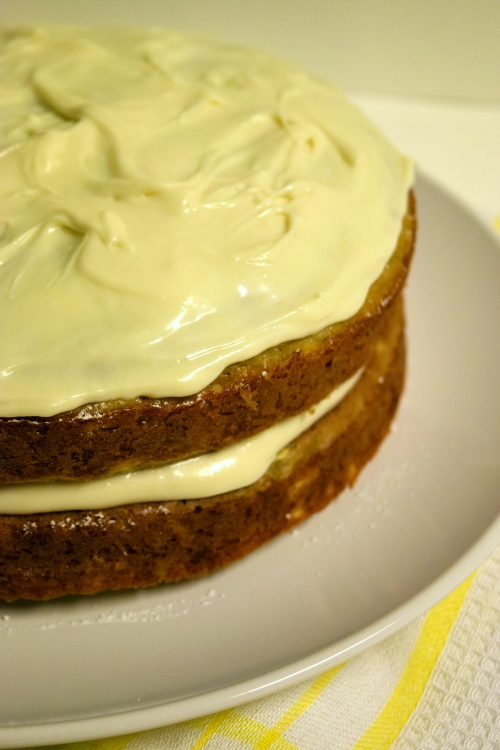 parsnip ginger cake with maple frosting