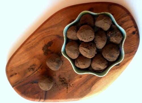 Olive oil and honey vegan truffles